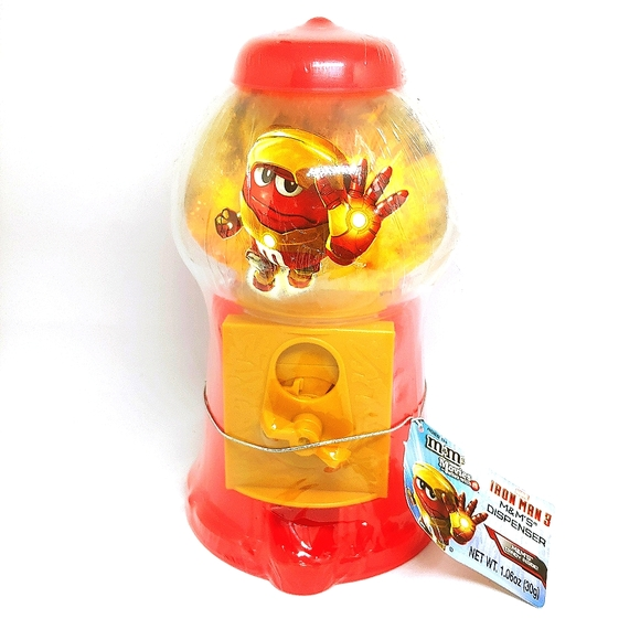 NEW M&M'S ® IRON MAN 3 CANDY DISPENSER Color Red